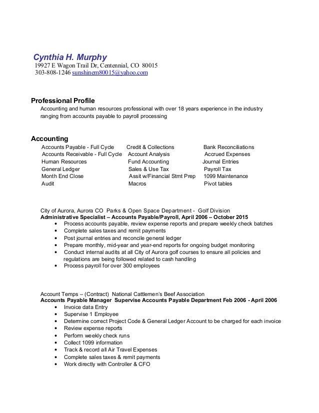 2015 Nov Profile Resume