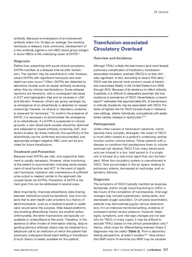 www.labmedicine.com Summer 2012 | Volume 43, Number 5 Lab Medicine 221 CE Update antibody. Because re-emergence of an...