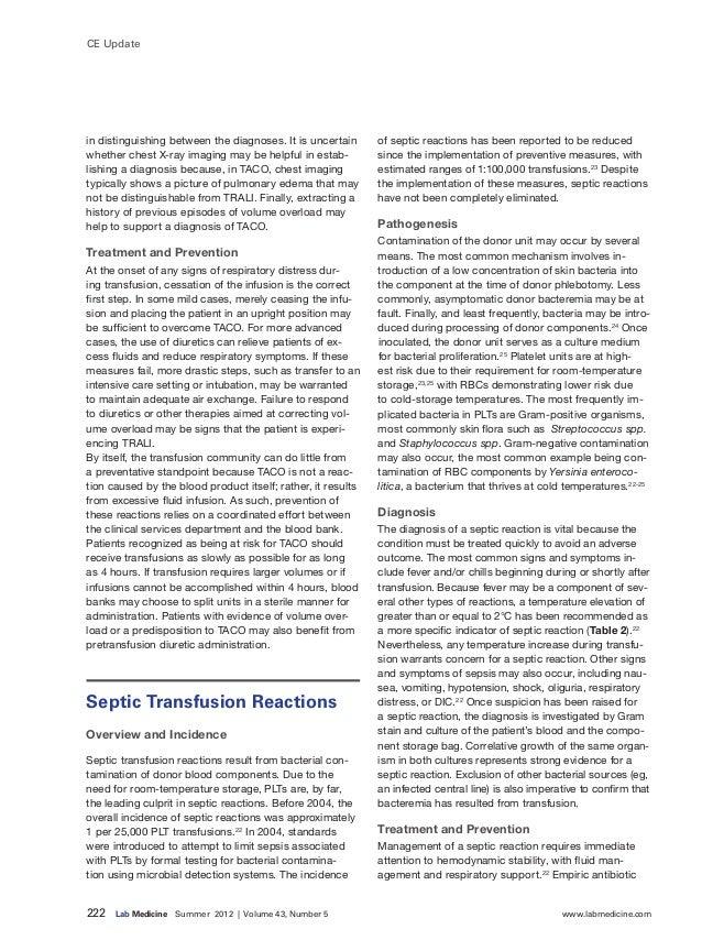 222 Lab Medicine Summer 2012 | Volume 43, Number 5 www.labmedicine.com CE Update in distinguishing between the diagno...