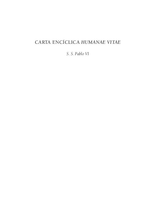 Carta Encíclica Humanae Vitae  S. S. Pablo VI