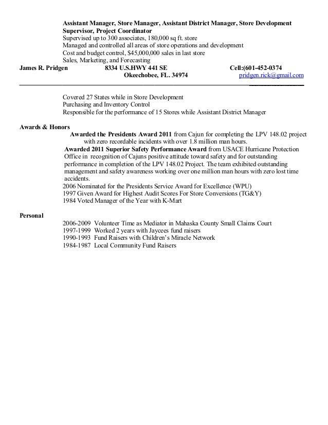 james  rick  pridgen safety resume june 2015