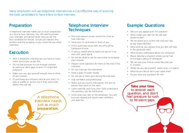 preparation execution telephone interview techniques example questions many employers - Employer Interview Tips Techniques Guide