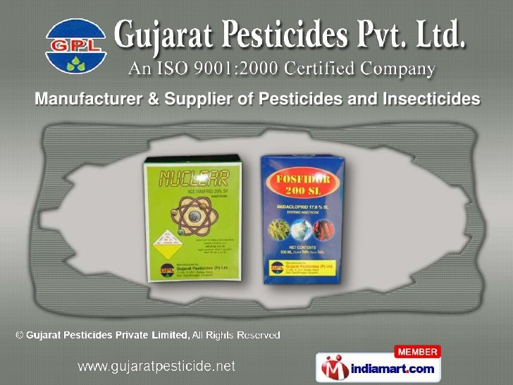 Manufacturer & Supplier of Pesticides and Insecticides