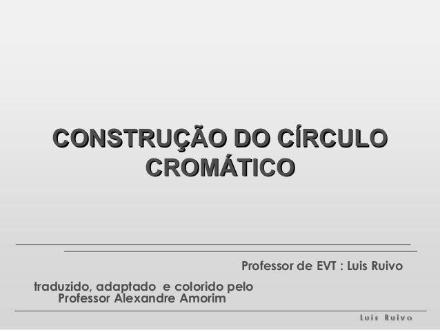 CCOONNSSTTRRUUÇÇÃÃOO DDOO CCÍÍRRCCUULLOO  CCRROOMMÁÁTTIICCOO  Professor de EVT : Luis Ruivo  traduzido, adaptado e colorid...