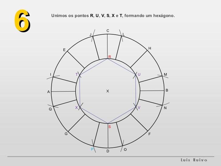 Unimos os pontos  R ,  U ,  V ,  S ,  X  e  T , formando um hexágono. 6 A B F G H E D C M L J I O N P Q S R V X U T