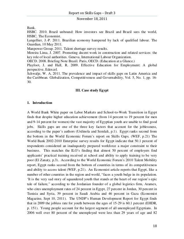 Report on Skills Gaps – Draft 3                                  November 18, 2011Bank.HSBC. 2010. Brazil unbound: How inv...