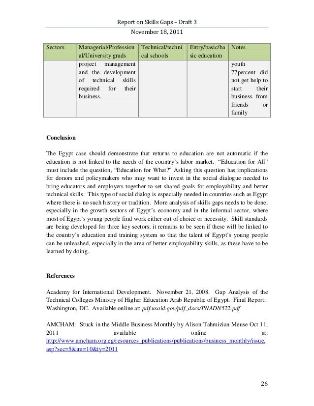 Report on Skills Gaps – Draft 3                                   November 18, 2011Sectors      Managerial/Profession Tech...