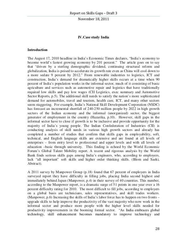 Report on Skills Gaps – Draft 3                                   November 18, 2011                                   IV.C...
