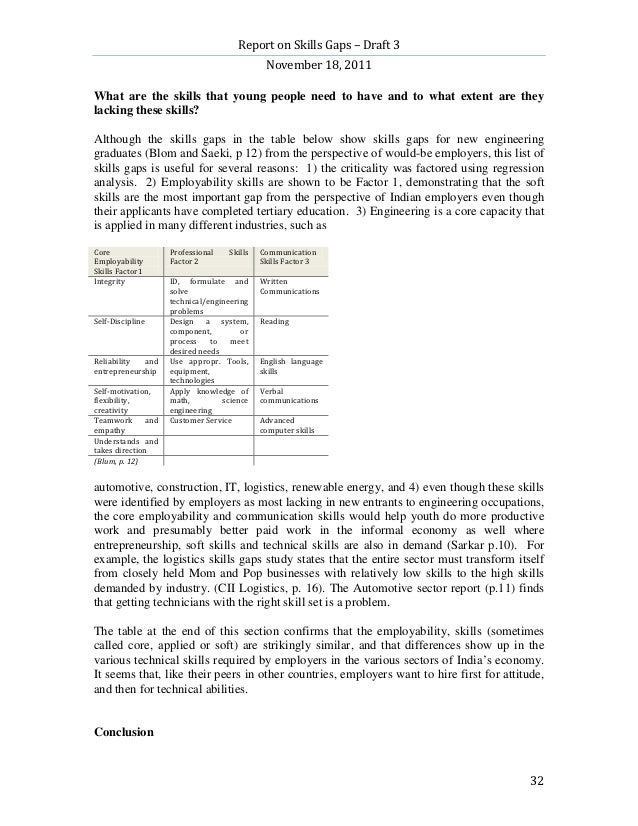 Report on Skills Gaps – Draft 3                                            November 18, 2011What are the skills that young...