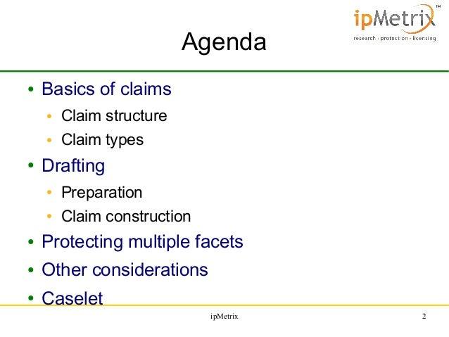 Patent Specification Drafting Series: Claim Drafting & Analysis, By Arun Narasani Slide 2