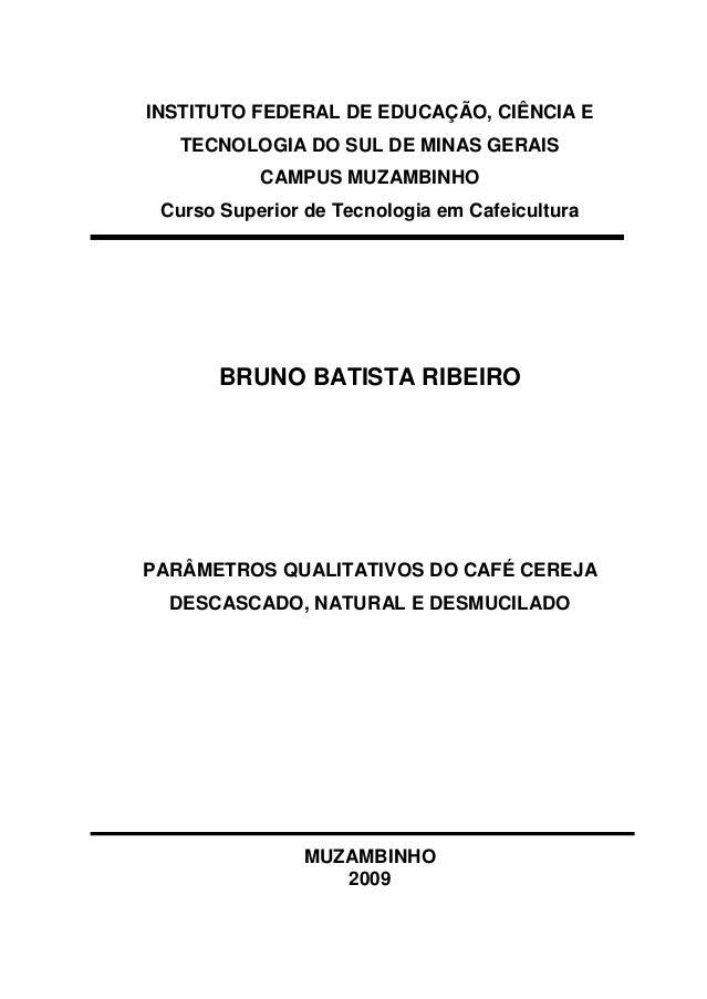 INSTITUTO FEDERAL DE EDUCAÇÃO, CIÊNCIA E  TECNOLOGIA DO SUL DE MINAS GERAIS  CAMPUS MUZAMBINHO  Curso Superior de Tecnolog...