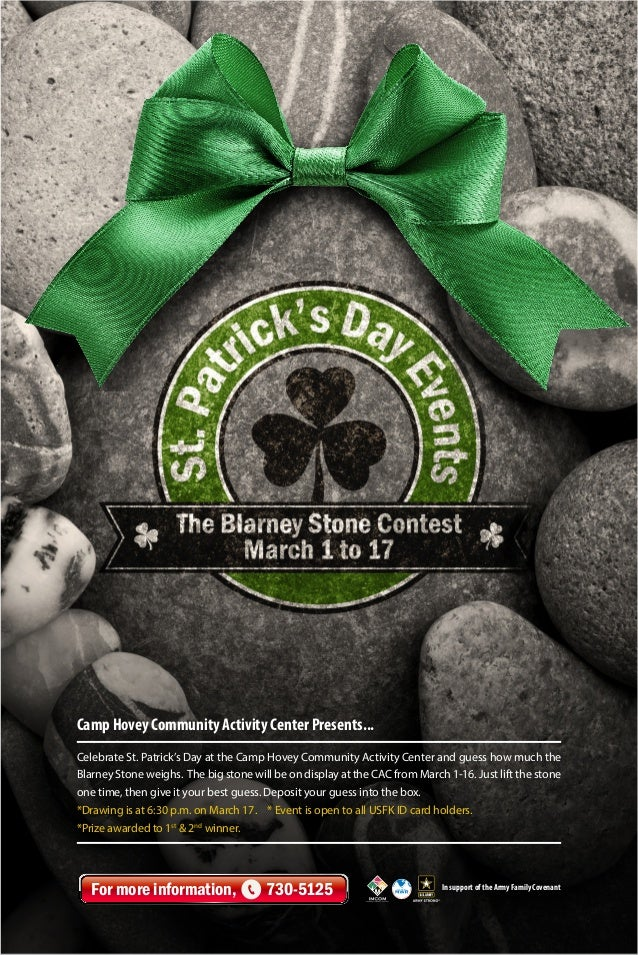 Camp Hovey Community Activity Center Presents... Celebrate St. Patrick's Day at the Camp Hovey Community Activity Center a...