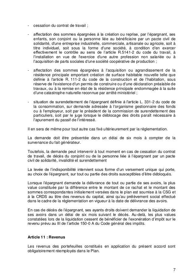 Idcc 218 Idcc 2793 Idcc 2603 Protocole D Accord Plan Epargne