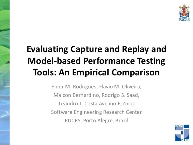 218 - Evaluating Capture and Replay and Model-based