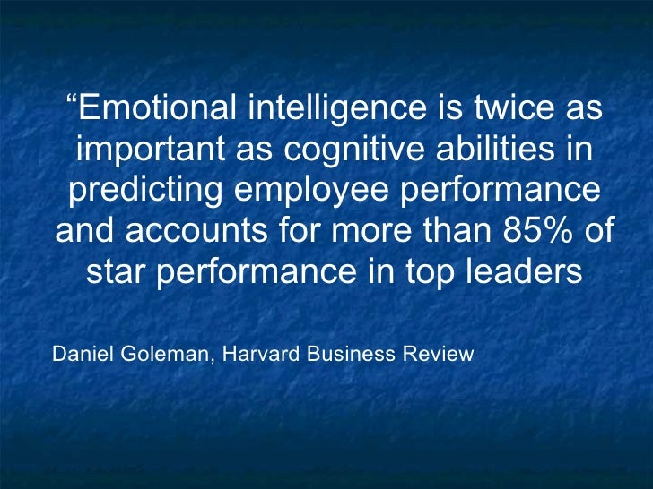 "A Summary of ""Emotional Intelligence"" By Daniel Goleman"