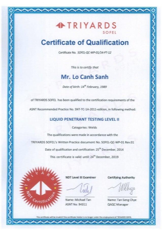 3. PT certificate - Sanh