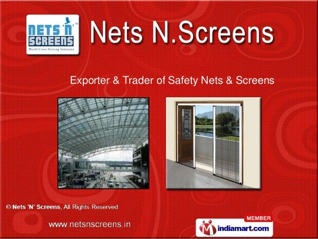 Exporter & Trader of Safety Nets & Screens