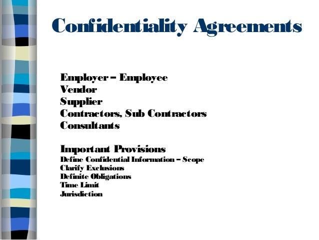 Trade Secrets Presentation on Trade Secret Protection in India Ban – Vendor Confidentiality Agreement