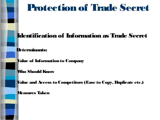 trade secret protection act