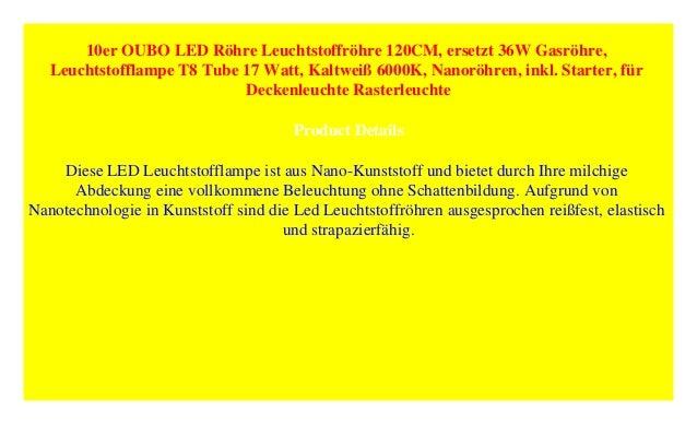 120cmErsetzt 36w Röhre GasröhreLe… 10er Oubo Led Leuchtstoffröhre ...