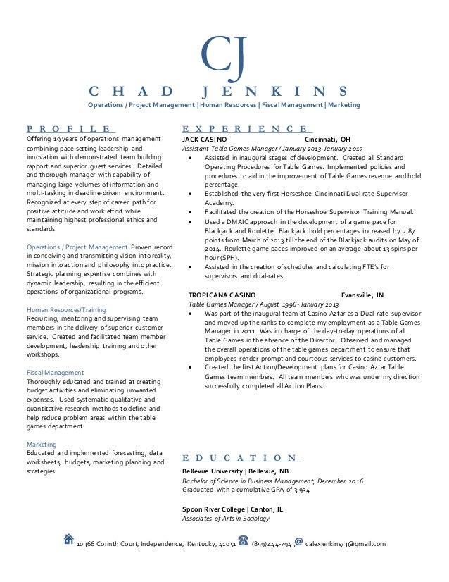 Chad Jenkins Resume