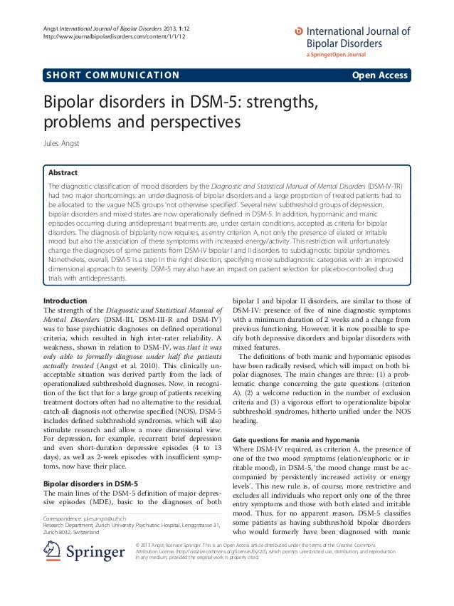 Bipolar disorder research paper