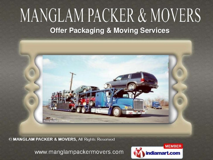 Offer Packaging & Moving Services