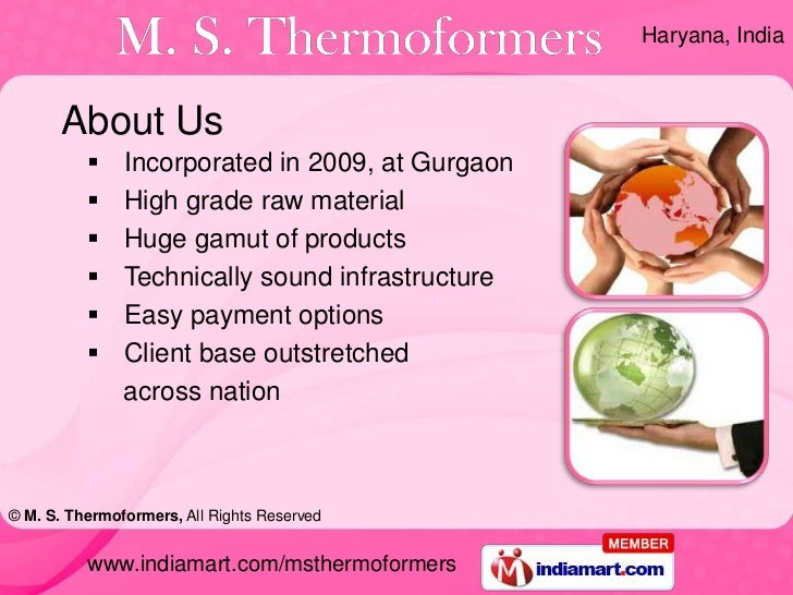 Thermoforming Products by M. S. Thermoformers Gurgaon Slide 2