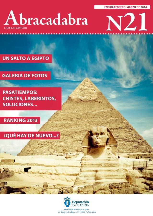 Abracadabra N21   UN SALTO A EGIPTO GALERIA DE FOTOS PASATIEMPOS: CHISTES, LABERINTOS, SOLUCIONES... RANKING 2013 ¿QUÉ HA...