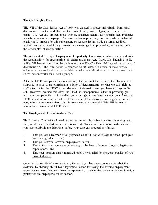 Sexual orientation discrimination title vii of the 1964