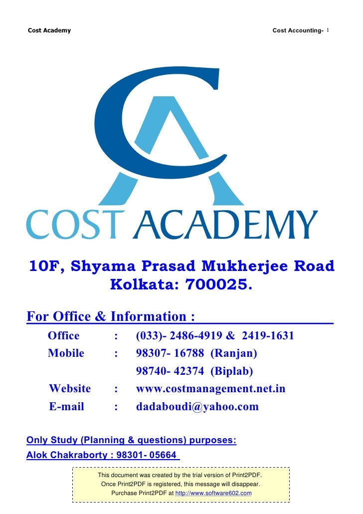 cost accouting essay