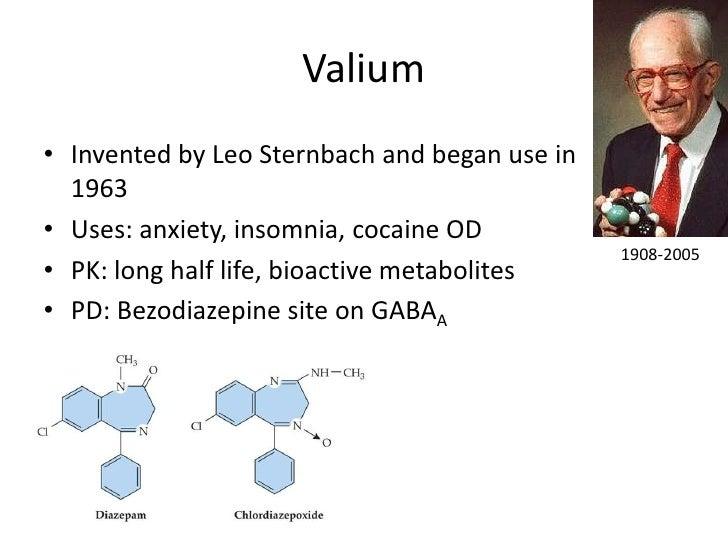 valium half life metabolite identification