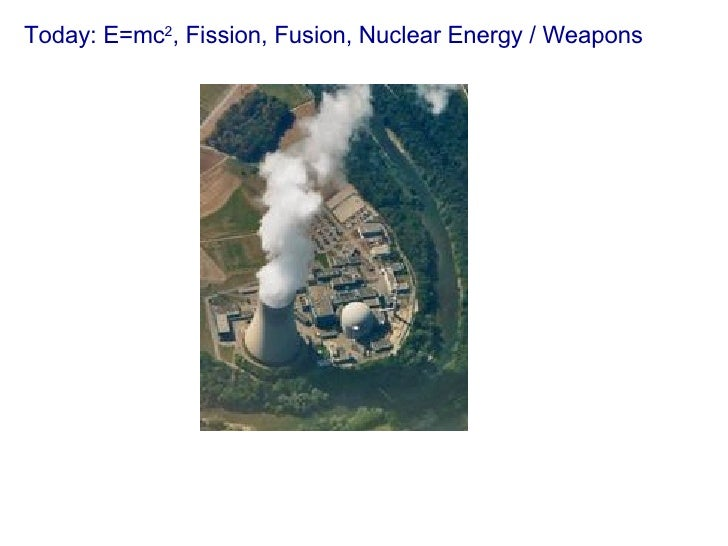 Today: E=mc 2 , Fission, Fusion, Nuclear Energy / Weapons