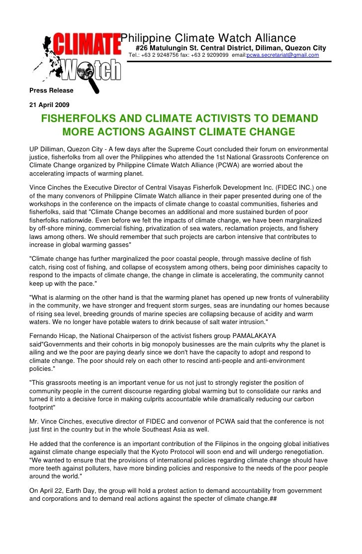 Philippine Climate Watch Alliance                                       #26 Matulungin St. Central District, Diliman, Quez...