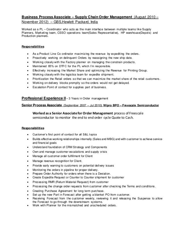 Order Processing Resume Nmdnconference Example Resume And
