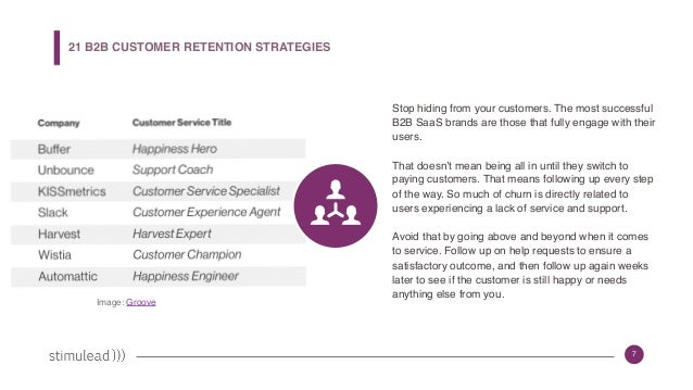21 B2B Strategies for Customer Retention