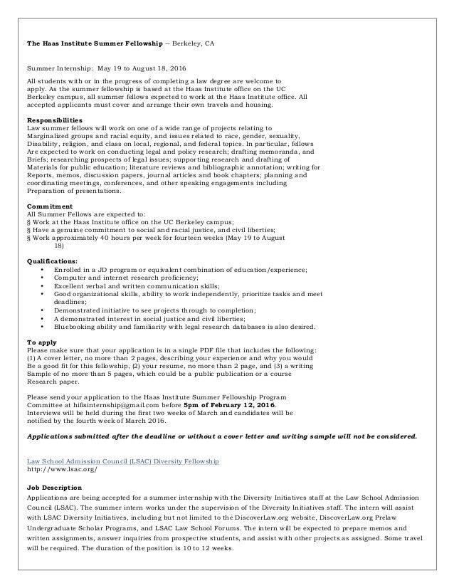 fellowship cover letter sample