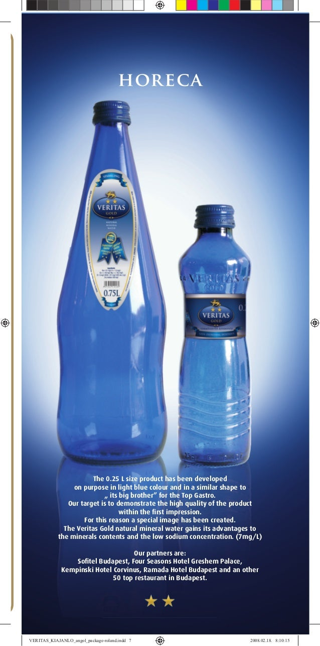 """horeca The 0.25 L size product has been developed on purpose in light blue colour and in a similar shape to """" its big brot..."""