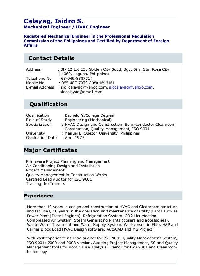 Isidro_Calayag Resume 11 20 16