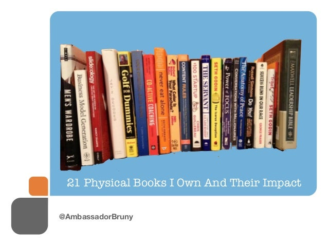 21 Physical Books I Own And Their Impact@AmbassadorBruny