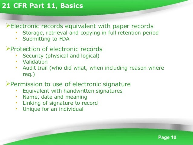 CFR PART 11 COMPLIANCE EPUB