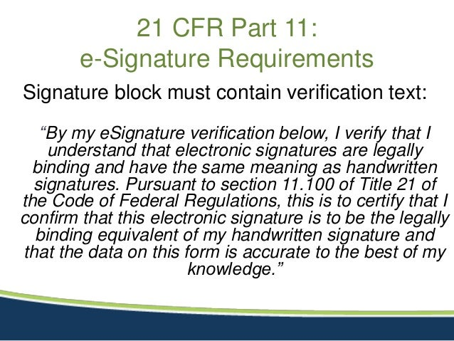 21 CFR Part 11 Compliance - Database Integrations