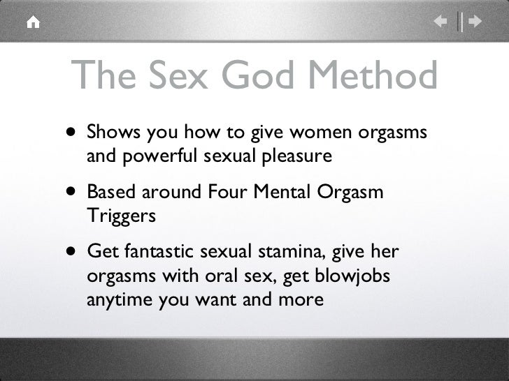 How to give a woman a good orgasm
