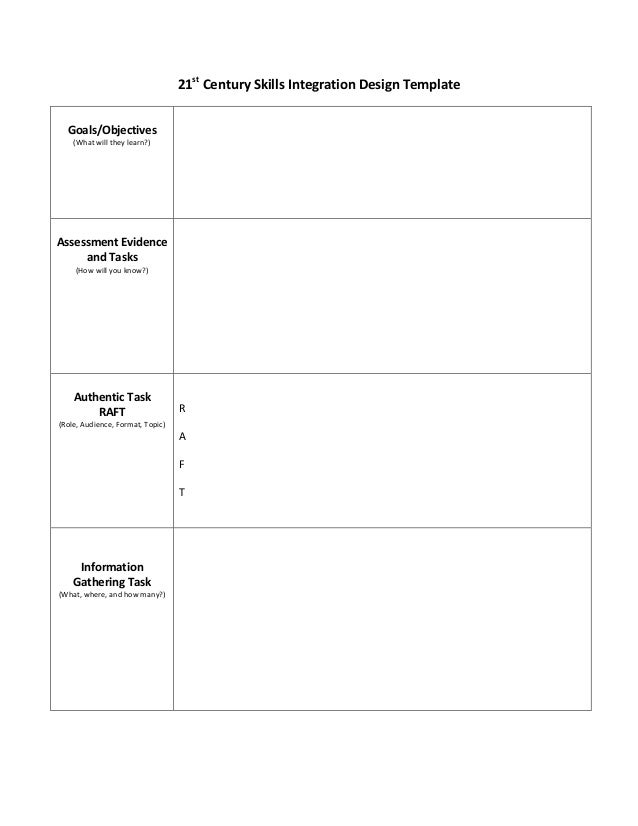21 c skills instructional design template for Instructional design analysis template