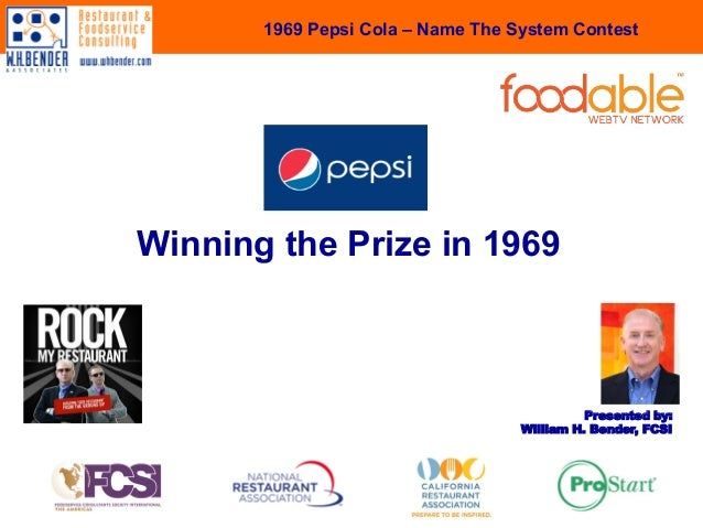 Pepsi Cola - Winning The Prize in 1969