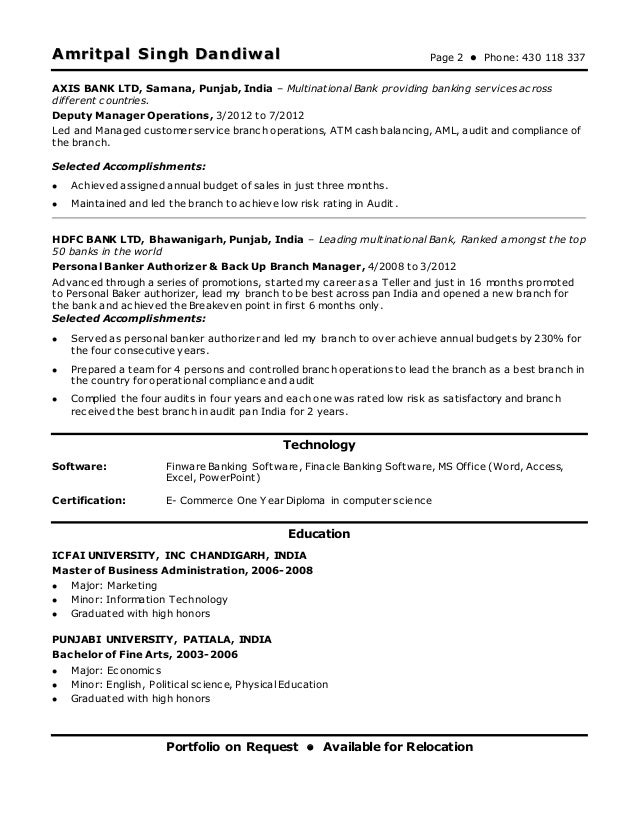 2 - Audit Operation Manager Resume