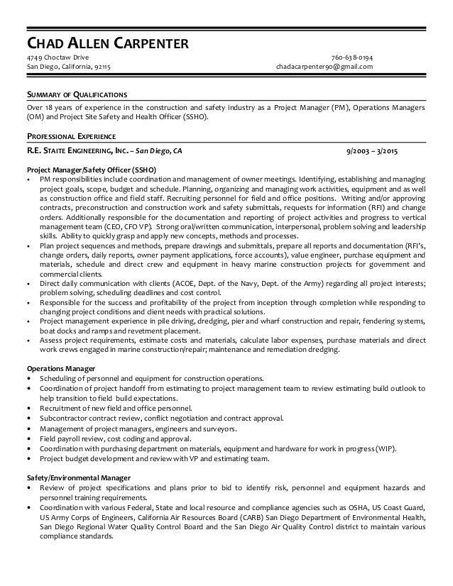chad carpenter resume