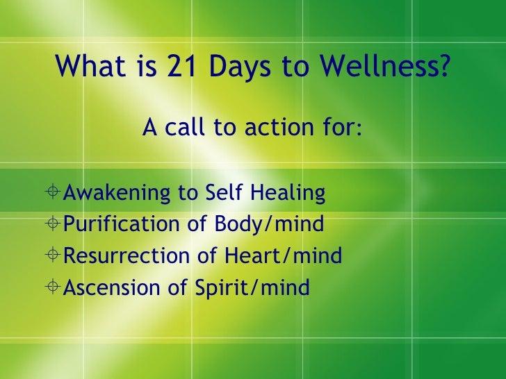 21 days to wellness1 Slide 2