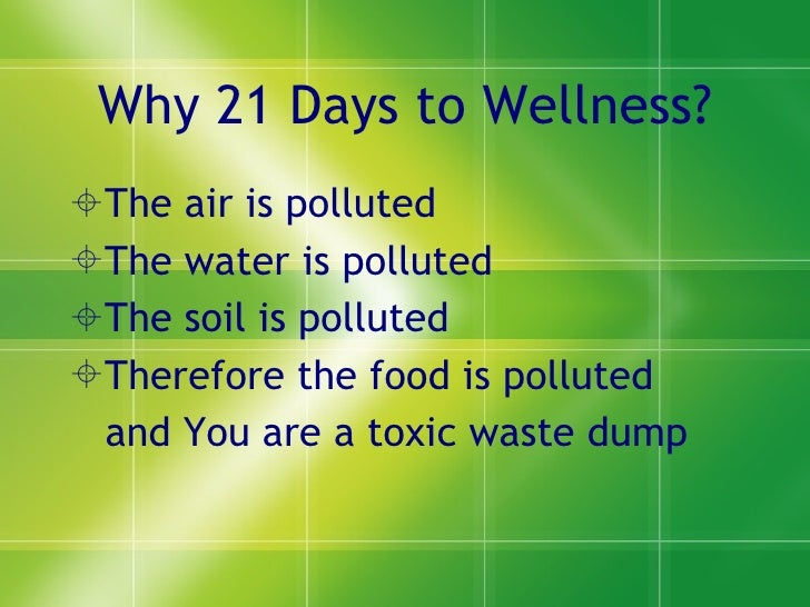 21 days to wellness1 Slide 3
