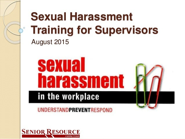 Corporate sexual harassment training